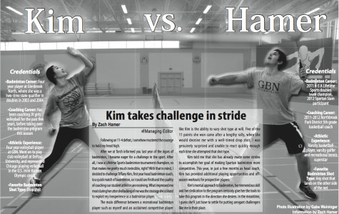 Kim takes challenge in stride