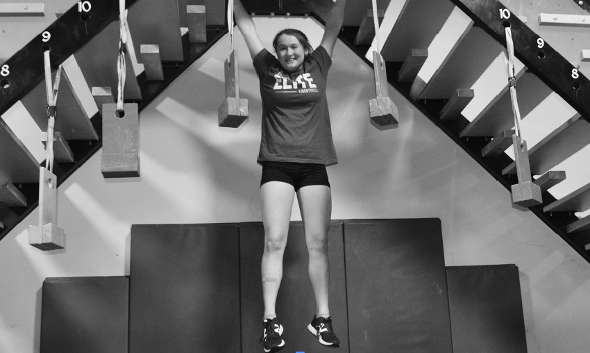 """Freshman Ann Slivken trains for her appearance on """"American Ninja Warrior Junior."""" Her episode is set to air on Saturday Dec. 8 at 6 p.m. on Universal Kids."""