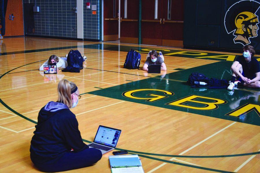 During SEL instruction in P.E. teacher Jennifer Schultz